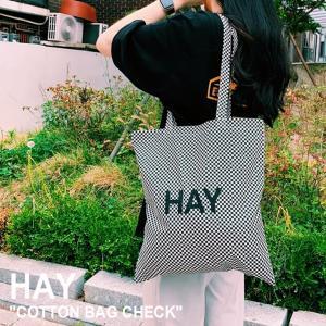 ヘイ トートバッグ HAY メンズ レディース COTTON BAG CHECK コットンバッグ チェック Check チェック色 700175 バッグ nuna-ys