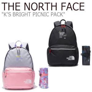ノースフェイス バックパック THE NORTH FACE キッズ K'S BRIGHT PICNIC PACK ブライト ピクニックパック GREY グレー BLACK ブラック NM2DL10T/U バッグ|nuna-ys