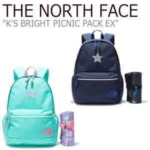 ノースフェイス バックパック THE NORTH FACE キッズ K'S BRIGHT PICNIC PACK EX ブライト ピクニックパック EX NAVY ネイビー MINT ミント NM2DL12R/S バッグ|nuna-ys