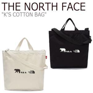 ノースフェイス トートバッグ THE NORTH FACE 男の子 女の子 K'S COTTON BAG コットンバッグ IVORY アイボリー BLACK ブラック NN2PL56R/S バッグ nuna-ys