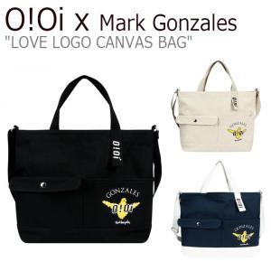 オアイオアイ x マークゴンザレス クロスバッグ O!Oi x Mark Gonzales LOVE LOGO CANVAS BAG ラブ ロゴ キャンバス バッグ OIxMG_20/1/2 バッグ|nuna-ys