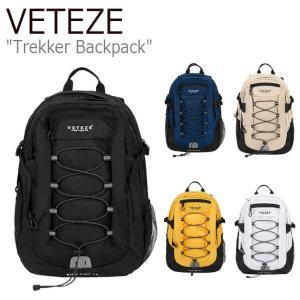 ベテゼ リュックサック VETEZE メンズ レディース Trekker Backpack トレッカー バックパック BLACK NAVY BEIGE YELLOW WHITE 19VTZBAC005/6/7/8/9 バッグ|nuna-ys