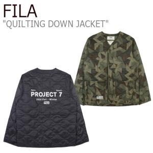 フィラ ダウン FILA Project 7 QUILTING DOWN JACKET プロジェクト 7 キルティング ダウン ジャケット BLACK MILITARY KHAKI FS2JKC4B03X ウェア|nuna-ys