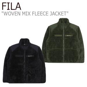 フィラ フリース FILA Project 7 WOVEN MIX FLEECE JACKET プロジェクト 7 ウーブン ミックス フリース ジャケット BLACK MILITARY KHAKI FS2PLC4B01X ウェア|nuna-ys