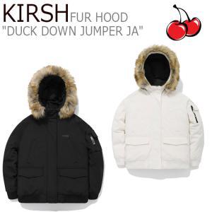 キルシー ダウン KIRSH メンズ レディース FUR HOOD DUCK DOWN JUMPER JA ファー フード ダック ダウン ジャンパー JA IVORY BLACK JAKD07 ウェア|nuna-ys