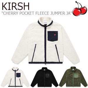 キルシー フリース KIRSH CHERRY POCKET FLEECE JUMPER JA チェリー ポケット フリースジャンパー BLACK ブラック KHAKI カーキ IVORY アイボリー JAKJ01 ウェア|nuna-ys