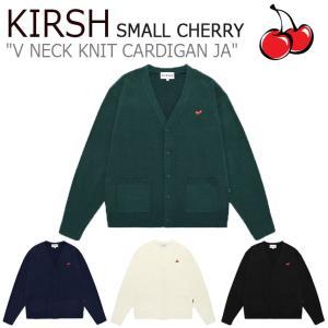 キルシー アウター KIRSH SMALL CHERRY V NECK KNIT CARDIGAN JA スモール チェリー Vネック ニット カーディガン NAVY GREEN BLACK IVORY JAKK04 ウェア|nuna-ys