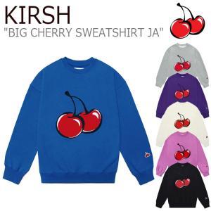 キルシー トレーナー KIRSH BIG CHERRY SWEATSHIRT JA ビッグ チェリー スウェットシャツ PURPLE IVORY BLUE PINK BLACK GRAY JAKT01 ウェア|nuna-ys