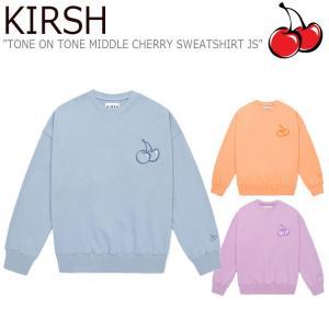 キルシー トレーナー KIRSH TONE ON TONE MIDDLE CHERRY SWEATSHIRT JS トーンオントーン ミドルチェリー スウェット JS JSKT03 CNTS0EL29B1/O1/V1 ウェア|nuna-ys