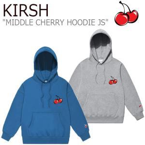 キルシー パーカ KIRSH メンズ レディース MIDDLE CHERRY HOODIE JS ミドル チェリー フーディー GRAY グレー BLUE ブルー JSKT04 CNTS0EL31G2/B3 ウェア|nuna-ys