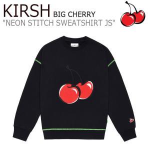 キルシー トレーナー KIRSH BIG CHERRY NEON STITCH SWEATSHIRT JS ビッグ チェリー ネオン スティッチ スウェットシャツ BLACK ブラック MJSKT02 ウェア|nuna-ys