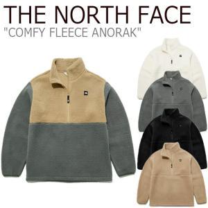 フリース ノースフェイス THE NORTH FACE COMFY FLEECE ANORAK コンフィー フリースアノラック IVORY CAMEL BLACK CHARCOAL GRAY NA4FL51J/K/L/M/N ウェア|nuna-ys