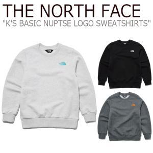 ノースフェイス トレーナー THE NORTH FACE 男の子 女の子 K'S BASIC NUPTSE LOGO SWEATSHIRTS ベーシック ヌプシ ロゴ スウェットシャツ NM5ML51S/T/U ウェア|nuna-ys