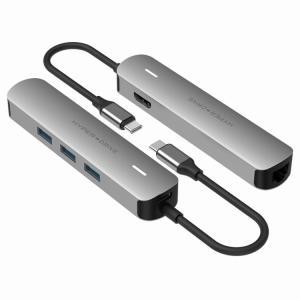 USB-C Hub 高速データ転送 4K高画質 LANケーブル HDMI変換アダプター HD出力 U...