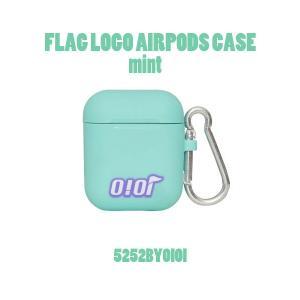 AirPods ケース airpods カバー エアポッズ o!oi FLAG LOGO AIRPODS CASE mint nuna-ys