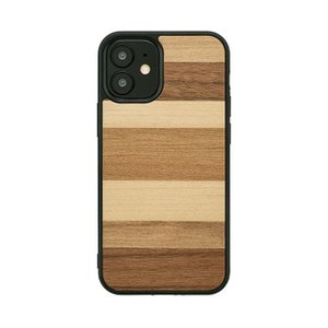 iPiPhone 12 mini ケース 木製 Man&Wood ウォールナット スマホケース iphoneケース カバー スマホカバー お取り寄せ|nuna-ys