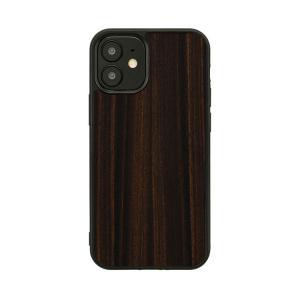 iPhone 12 Pro / 12 ケース 木製 Man&Wood エボニー スマホケース iphoneケース カバー スマホカバー アイフォン12 お取り寄せ|nuna-ys