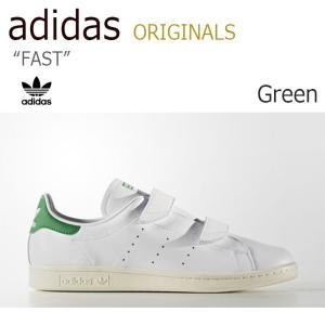 アディダス スタンスミス adidas メンズ レディース STANSMITH FAST ファスト ベルクロ White White Green ホワイト グリーン S76662 スニーカー シューズ|nuna-ys