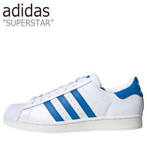 アディダス スーパースター adidas メンズ レディース SUPERSTAR スーパースター WHITE ホワイト BLUE ブルー FW4406 シューズ|nuna-ys