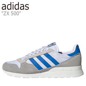 アディダス スニーカー adidas メンズ レディース ZX 500 ゼットエックス 500 OFF WHITE オフ ホワイト BLUE ブルー FW4410 シューズ|nuna-ys