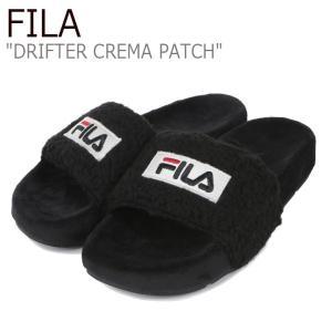フィラ サンダル FILA レディース DRIFTER CREMA PATCH ドリフター クレマ パッチ BLACK ブラック 1SM00817-001 シューズ|nuna-ys