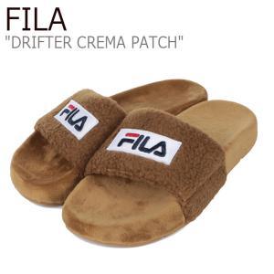 フィラ サンダル FILA レディース DRIFTER CREMA PATCH ドリフター クレマ パッチ BEIGE ベージュ 1SM00817-926 シューズ|nuna-ys
