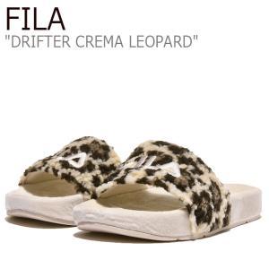 フィラ サンダル FILA レディース DRIFTER CREMA LEOPARD ドリフター クレマ レオパード BEIGE ベージュ 1SM00819-920 シューズ|nuna-ys