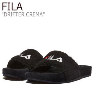 フィラ サンダル FILA レディース DRIFTER CREMA ドリフター クレマ BLACK ブラック 1SM00820-001 シューズ|nuna-ys