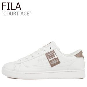フィラ スニーカー FILA メンズ レディース Project 7 COURT ACE プロジェクト 7 コート エース WHITE ホワイト BROWN ブラウン 1XM01182-166 シューズ|nuna-ys