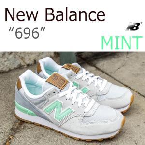 New Balance 696 ミント レディース モデル シューズ スニーカー シューズ|nuna-ys