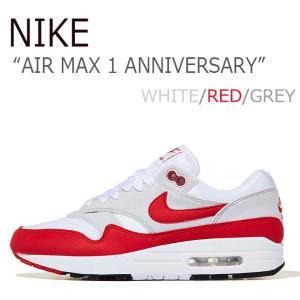 ナイキ スニーカー NIKE メンズ AIR MAX 1  ANNIVERSARY エアマックス1 アニバーサリー WHITE RED GREY ホワイト レッド グレー 908375-103 シューズ|nuna-ys