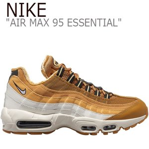 ナイキ エアマックス スニーカー NIKE AIR MAX 95 ESSENTIAL エア マックス 95 エッセンシャル WHEAT WHITE AT9865-700 FLNK9F3M17 シューズ|nuna-ys