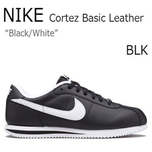 NIKE Cortez Basic Leather BLAC...
