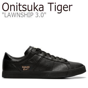 オニツカタイガー スニーカー Onitsuka Tiger メンズ レディース LAWNSHIP 3.0 ローンシップ 3.0 BLACK ブラック 1183A568-001 シューズ nuna-ys