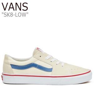 バンズ スケートロウ スニーカー VANS メンズ レディース SK8-LOW スケートロウ CREAM WHITE CLASSIC WHITE NAVY VN0A4UUK24I シューズ|nuna-ys
