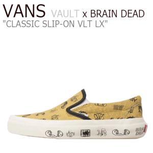 バンズ スリッポン スニーカー VANS x BRAIN DEAD ブレイン デッド VAULT CLASSIC SLIP-ON VLT LX ボルト VLT LX ORANGE VNOA38FJN8B シューズ|nuna-ys