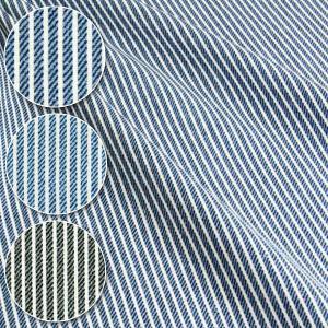 デニムヒッコリー風プリント オックス生地 ( デニム 布 生地 インテリア ヒッコリー エプロン バッグ カバー ) 50cm単位
