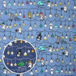 猫電球≪お買い得商品≫ ダブルガーゼ生地 ( Wガーゼ シャツ 生地 赤ちゃん ワンピース パジャマ おくるみ スタイチ マスク ) 50cm単位