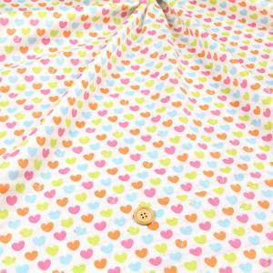 ヒヨコハート≪お買い得商品≫ ダブルガーゼ生地 ( 赤ちゃん ワンピース パジャマ おくるみ ハンカチ マスク  ) 50cm単位|nuno1000netshop
