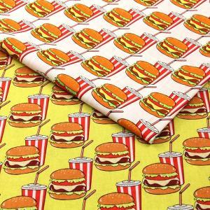 ≪P5倍≫Hamburger シーチング生地 ( 雑貨 インテリア アロハシャツ パッチワーク ブラウス チュニック  ) 50cm単位|nuno1000netshop