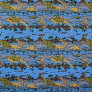 ≪P5倍≫恐竜時代≪お買い得商品≫ CBポプリン生地 ( 雑貨 インテリア ザウルス パッチワーク ブラウス  ) 50cm単位|nuno1000netshop