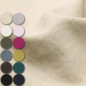 C/Lヘリンボーン 綿麻生地(エアータンブラー加工) ( ワンピース シャツ ブラウス スカート パンツ バッグ カバー ) 50cm単位|nuno1000netshop