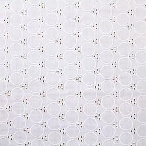 ガーゼ刺繍≪円≫ ダブルガーゼ生地 ( race ワンピース スカート インテリア チュニック  ) 50cm単位|nuno1000netshop