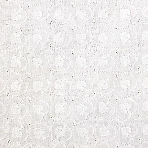 ハートベリー刺繍 ダブルガーゼ生地 ( Wガーゼ baby スタイ ワンピース ハンドメイド スカート マスク 刺繍  ) 50cm単位|nuno1000netshop