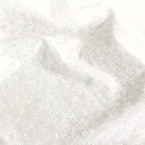 ストライプ刺繍-GW2016 ダブルガーゼ生地 ( Wガーゼ 無地 ワンピース ブラウス チュニックカーテン インテリア ベビードレス ) 50cm単位|nuno1000netshop