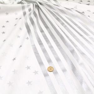 ≪P5倍≫ストライプ×星 オックス生地 ( ハンドメイド 雑貨 インテリア バッグ エプロン ポーチ 学校 入園入学  ) 50cm単位|nuno1000netshop