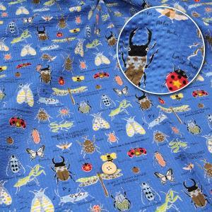 ≪さらり≫昆虫 ポプリンリップル生地(ダイレクトワッフル) ( 甚平 浴衣 スカート 夏着 ハンドメイド  ) 50cm単位|nuno1000netshop