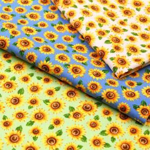 Sunflower CBポプリン生地 ( ハンドメイド 雑貨 インテリア 内袋 パッチワーク 入園入学 学校  ) 50cm単位 nuno1000netshop