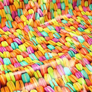 (ツヤツヤ)Colorful macaron≪ラミネート生地≫  ツヤ有りラミネート生地 ( ポーチ 撥水 ハンドメイド クロス  ) 50cm単位|nuno1000netshop