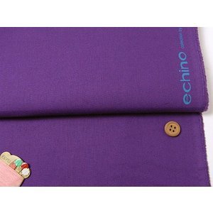綿麻生地・echino 無地(紫) nunogatari